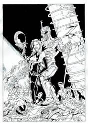 Queen Kimberly and Lord Zedd by kikomauriz