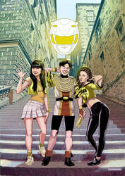 Yellow Rangers by kikomauriz