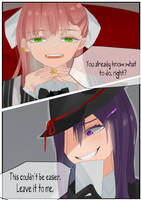 Mafia DDLC Blackmailer Yuri [short comic #3] by rrkkrkrr
