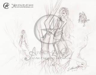 Sketch : Lady Amalthea by Arc-En-Ciela