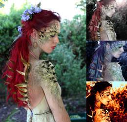 The Dragon lezard lady by Arc-En-Ciela