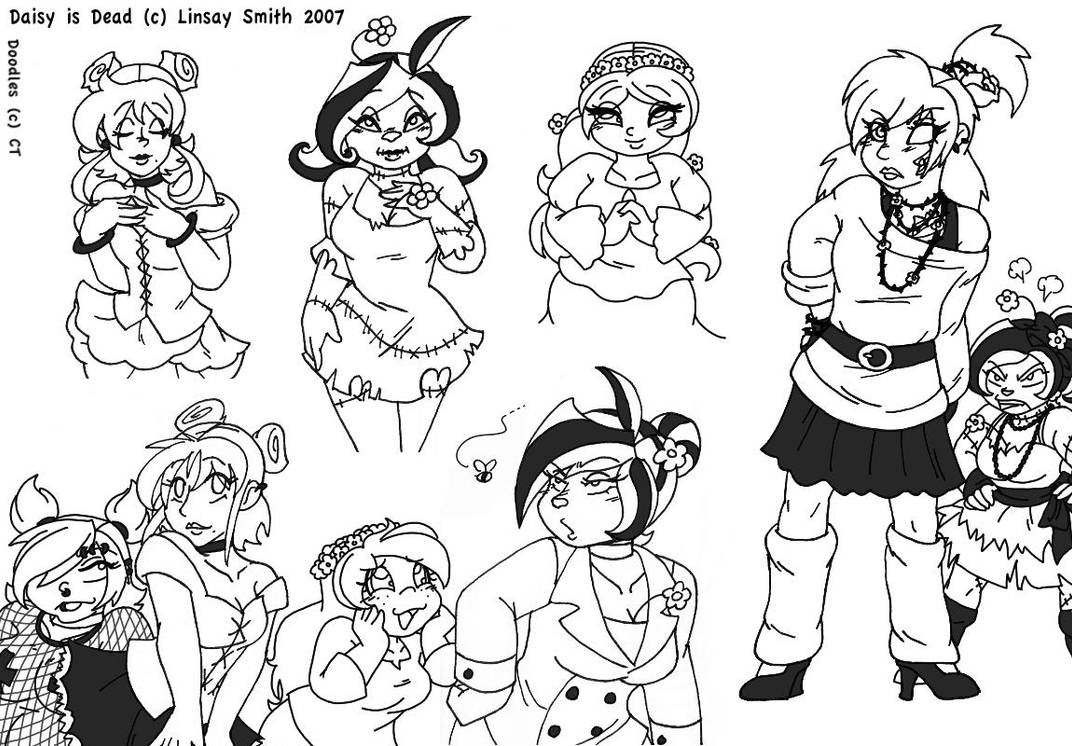 Daisy is Dead Doodles by MuseWhimsy