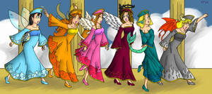 Procession of the Goddesses by MuseWhimsy
