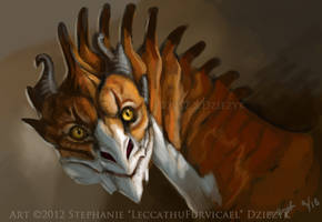 Tabby Dragon by LeccathuFurvicael
