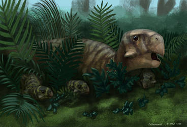 Dinovember - Finale - Psittacosaurus by LeccathuFurvicael
