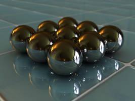 Reflective Balls by the-crimson-shoe