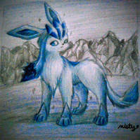Graceful Glaceon by mistyandsrperiorsart