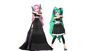 MMD DT Miku n Luka Magnet Preview by willianbrasil