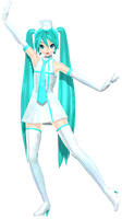 MMD DT Airlines Miku DL by willianbrasil