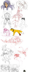 Sketch madness 4 OMG by WhiteMantisArt