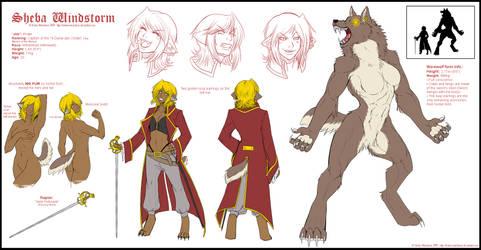 Sheba Character Sheet 3.0 by WhiteMantisArt