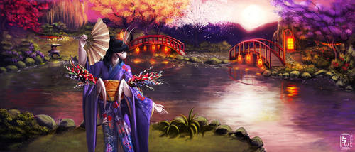 A Geisha's Dream by WhiteMantisArt