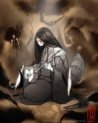 Blade Under Mask: Keep Playing by WhiteMantisArt