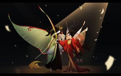 Blade Under Mask: Synchrony by WhiteMantisArt
