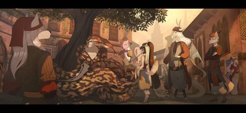 The Poor Little Snake Charmer (+ Story!) by WhiteMantisArt