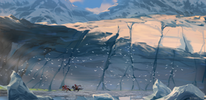 Timeless: Ice Giants by WhiteMantisArt