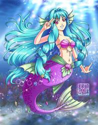Aya-chan, AyaCon 2011 mermaid by sonialeong