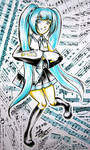 Hatsune Miku by sonialeong