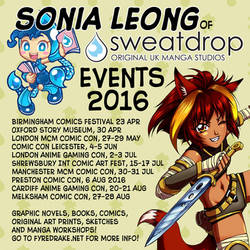 Sonia Leong 2016 Events! by sonialeong