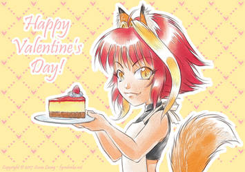 Happy Valentines Day cheesecake by sonialeong