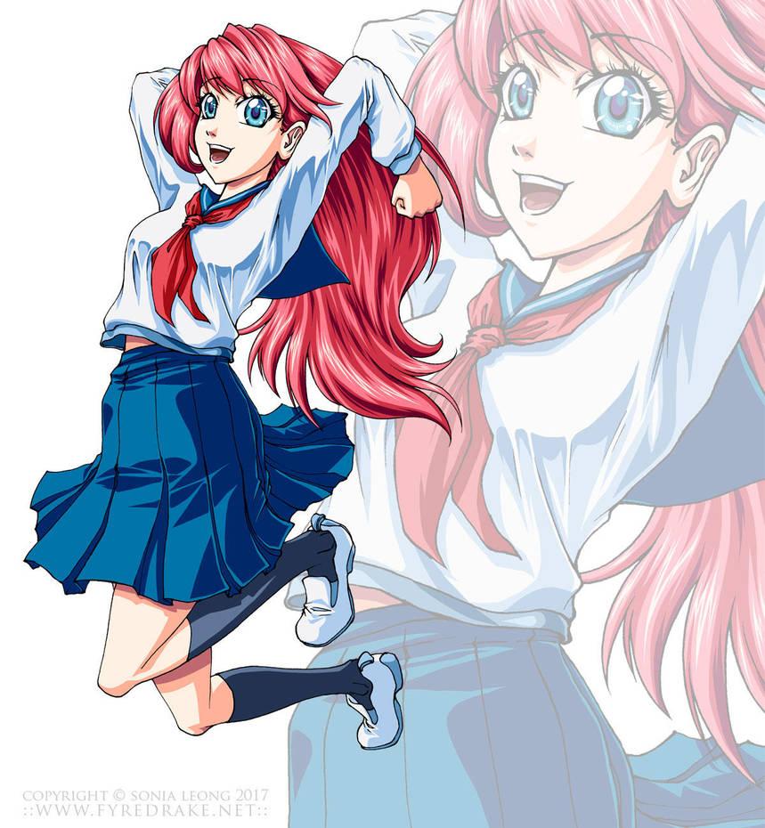 Beginning Manga cover girl by sonialeong