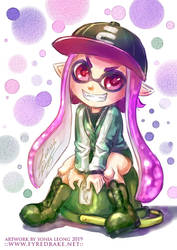 Splatoon 2 Inkling Girl Kamiko by sonialeong