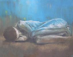 girl, laying by Maldoror24