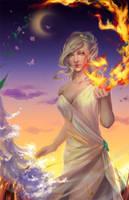 Elven Elementalist by GraceZhu
