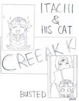 Itachi and his Kat sketch by yobutakei