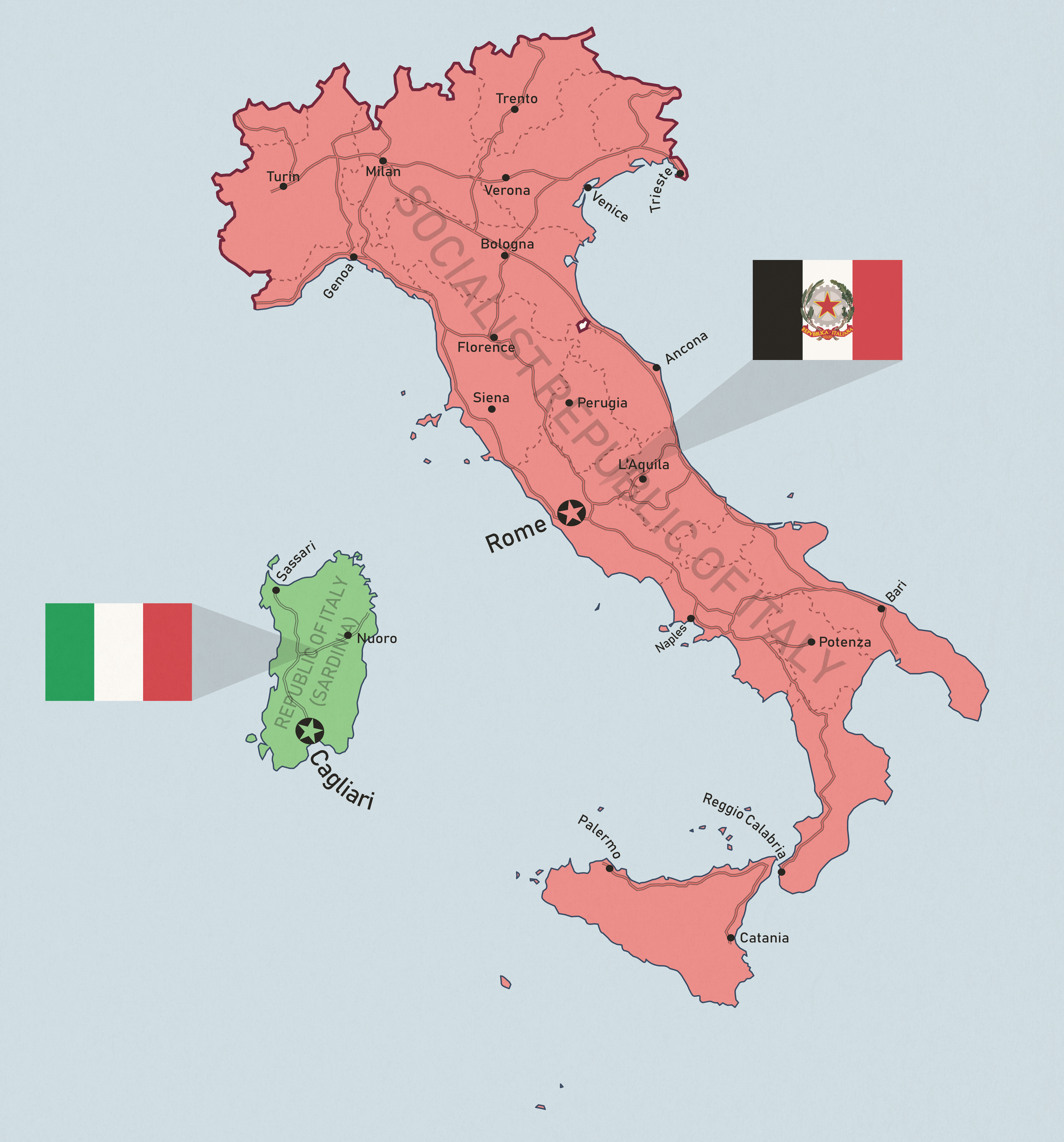 Taiwan-like concept: Italy by Dom-Bul