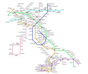 Subway Map - Italy v2 by Dom-Bul