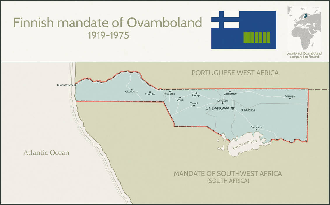 Southwest Africa Map.Finnish League Of Nations Mandate Of Ovamboland By Dom Bul On Deviantart