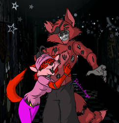 Collab2:Young Rossa and Nightmare Foxy by Italian-Angil