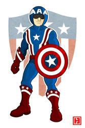 Captain America by hamahiru