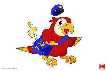Postman parrot by hamahiru