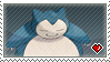 STAMP - Snorlax by IrateLiterate