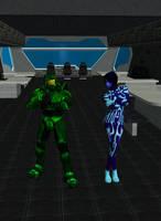 Master Chief and Cortana by dragonzero1980