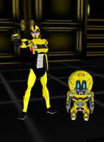 Chibi Bumblebee by dragonzero1980