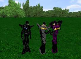 Catwoman Trio by dragonzero1980
