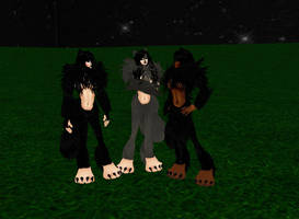 Shewolf Trio by dragonzero1980