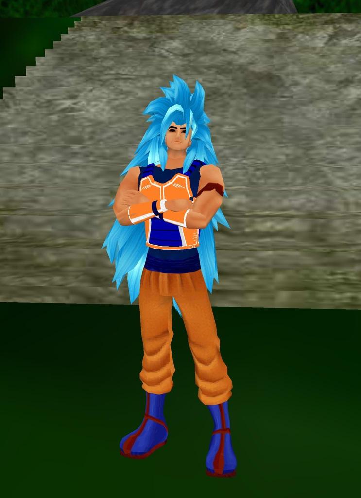Raditto Super Saiayn God Blue by dragonzero1980