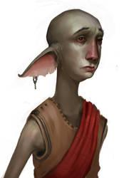 Elf Monk by SoupAndButter