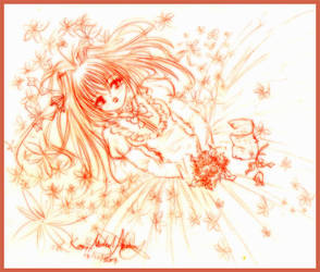 Girl with flowers by TohruHondaSan