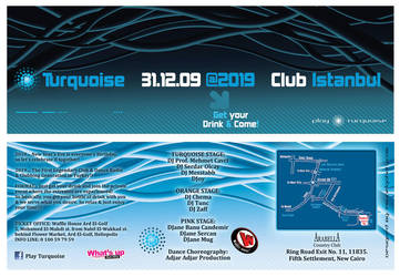 Turquoise 2010 NYE Flyer by Blue-Pearl