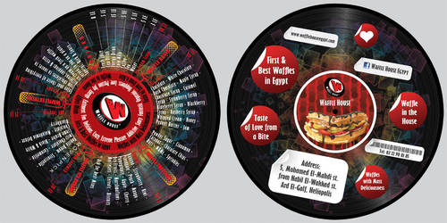 Waffle House Vinyl Record by Blue-Pearl