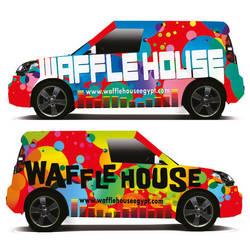 Waffle Car Wrap by Blue-Pearl