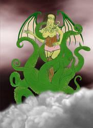 Cthulhu Pinup by Vampress-Katora