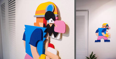 Wario Wall Sculpture by TnT-Illustrations