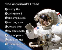 The Astronaut's Creed by blindwillow