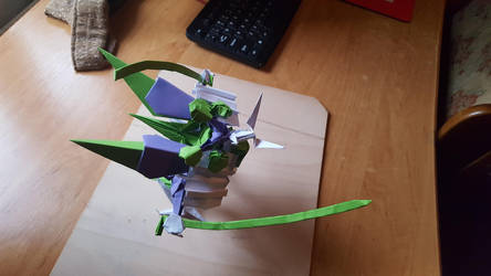 Samurai with Dual Katana - Origami - C by BoyarTactics